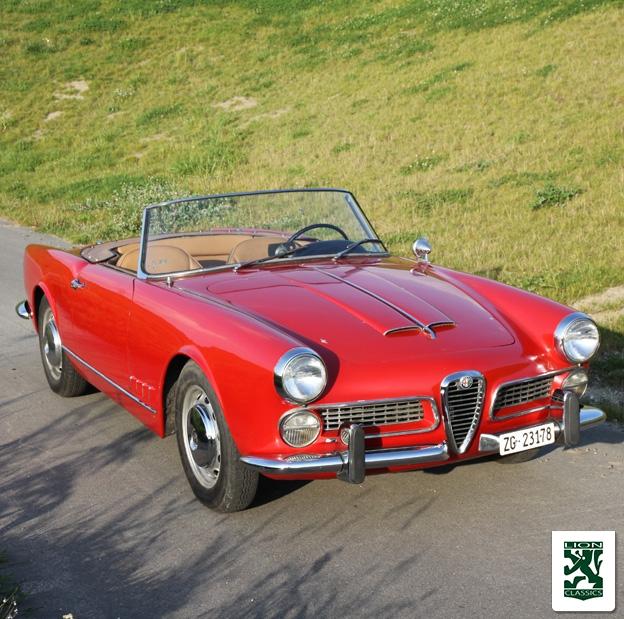 Alfa romeo 2000 spider 1958 lion classics for Interieur alfa spider 2000